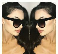 'Strike' Square top oversized ALL BLACK Celine dupe shades