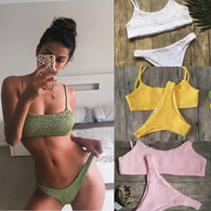 NEW 'B A L I' scrunch bikini with brazilian style bottoms