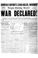 Attack on Pearl Harbor Front Page Reprint