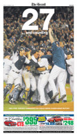 """27 and Counting"" NY Yankees 2009 World Series Win Sports Page Reprint"