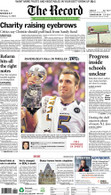 """Ravens Beat 49ers"" 2013 Super Bowl Victory Front Page Reprint"