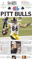 """Pitt Bulls"" 2006 Super Bowl Victory Sports Front Page Reprint"