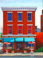 Landmark Tavern, NYC, NY, framed oil painting on linen (Artist: Mark Oberndorf)