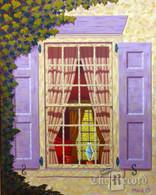 Vanderplaat House, Fair Lawn, NJ, framed oil painting on linen (Artist: Mark Oberndorf)
