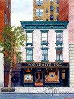 Portraits Inc. #2, NYC, NY, framed oil painting on linen (Artist: Mark Oberndorf)