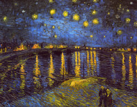 Van Gogh Starry Night Over the Rhone, Wooden Jigsaw Puzzle