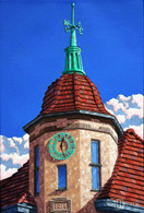 "Ridgewood Clock Tower, 20"" x 16"" print (Artist: Mark Oberndorf)"