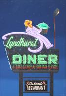 """Lyndhurst Diner, Lyndhurst, 16"""" x 20"""" print (Artist: Mark Oberndorf)"""