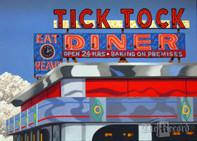 "Tick Tock Diner (1) 16"" x 20"" print (Artist: Mark Oberndorf)"
