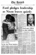 Richard M. Nixon Resigns Front Page Reprint