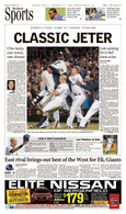 "Derek Jeter ""Classic Jeter"" Last Yankee Stadium Game Sports Front Page Reprint"