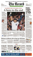 "Derek Jeter ""A Hero to the End"" Last Yankee Stadium Game Front Page Reprint"