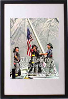 Firefighters Raising Flag Framed 16x20 Framed Print