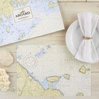 Nautical Map Placemat Book (48 pp)