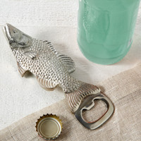 Silver Fish Bottle Opener