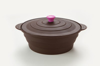 Large Round Steamer - Shown in Chocolate Brown