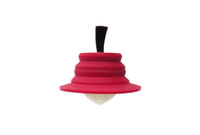 Tea infuser shown in red.  Also available in light green.
