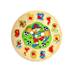 Fun Factory Wooden Clock Puzzle - Boy
