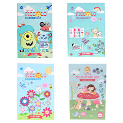 Tiger Tribe Piccolo Colouring Set - Boys Favourites, Little Girls Favourites, Big Girls Favourites and Forest Fairies