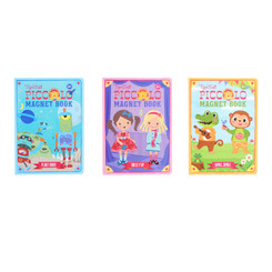 Tiger Tribe Piccolo Magnet book - Planet Robot, Dress It Up and Animal Jumble