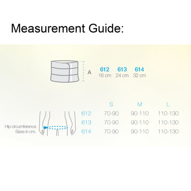 MultiBand - Elastic Tension Back Support - 2 Band Measurement Guide