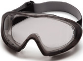 Pyramex Capstone Goggle Gray Frame ~ Anti Fog Clear Lens