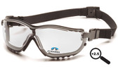 Pyramex V2G Goggles Fog Free Clear Lens 2.5 Magnification Reader