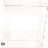 2-Box Horizontal Plastic Box Glove Dispenser, CLEAR PLASTIC