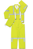 MCR Luminator 38 mm PVC 3 Piece Class III Rainsuit Yellow with Silver Stripes