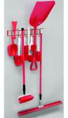 26 inch Utility / Sanitation Rack, (12) 2-1/2 inch Hooks