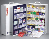 4-Shelf, 1059-Piece Industrial First Aid Station (With 20 Pocket Vinyl Liner)