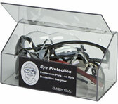 60-Pair Foam Ear Plug Dispenser with lid, CLEAR PLASTIC