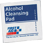 """Alcohol Cleansing Pads - 1-1/4"""" x 2-5/8"""" 10/Box"""