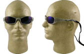 AO Safety Glasses Fuel Series with Silver Mirror Frame with Blue Mirror Lens