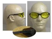 Uvex Bandit Safety Glasses, Black Frame - Amber Lens
