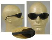 Uvex Bandit Safety Glasses, Blue Frame - Espresso Lens