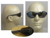 Uvex Bandit Safety Glasses, Blue Frame - Mirror Lens