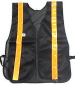 Soft Mesh Black Vests Orange Stripes