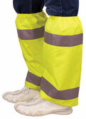 Leg Gaiters, Hi Viz Lime Color with Silver Stripes (sold in pairs)