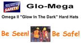 Glo-Mega Omega II Full Brim Safety Helmet With Ratchet Suspension