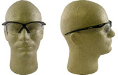 Jackson Nemesis Safety Glasses with Black Frame Clear Lens