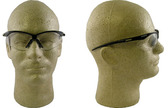 Jackson Nemesis Safety Glasses with Black Frame Fog Free Clear Lens