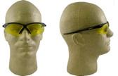 Jackson Nemesis Safety Glasses with Black Frame Amber Lens