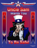 Uncle Sam Safety Poster - 24X32
