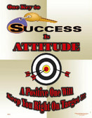 Key To Success Is Attitude Poster - 24X32