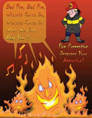 Fire Prevention Safety Poster - 24X32