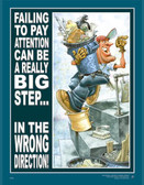 Pay Attention Safety Poster - 24X32