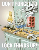 Lock Things Up Safety Poster - 24X32