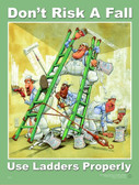 Ladder Use Safety Poster - 24X32