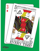 Don't Gamble on Safety Poster - 24X32